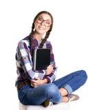 Muchacha adolescente con el cuaderno Fotografía de archivo