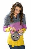 Muchacha adolescente con el monedero lindo Foto de archivo