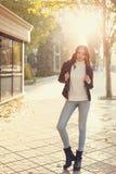 Muchacha adolescente con estilo Fotografía de archivo