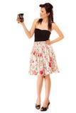 Muchacha adolescente con la cámara vieja Fotografía de archivo libre de regalías