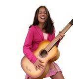 Muchacha adolescente con la guitarra Imagen de archivo libre de regalías