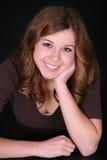 Muchacha adolescente con la pista en la mano Fotografía de archivo libre de regalías
