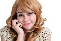 Muchacha adolescente con la sombra de ojos colorida Foto de archivo libre de regalías