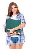 Muchacha adolescente con las carpetas Fotos de archivo libres de regalías
