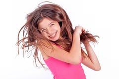 Muchacha adolescente con los corchetes Foto de archivo libre de regalías