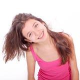 Muchacha adolescente con los corchetes Foto de archivo
