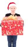 Muchacha adolescente con un regalo del Año Nuevo Foto de archivo