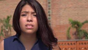 Muchacha adolescente confusa Fotos de archivo libres de regalías
