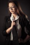 Muchacha adolescente coreana en traje de negocios Fotografía de archivo libre de regalías