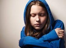 Muchacha adolescente de Afraided Foto de archivo