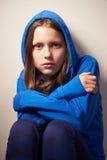 Muchacha adolescente de Afraided Foto de archivo libre de regalías