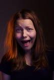 Muchacha adolescente de Afraided Fotos de archivo libres de regalías