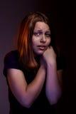 Muchacha adolescente de Afraided Imágenes de archivo libres de regalías
