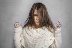 Muchacha adolescente de Angree Fotografía de archivo libre de regalías