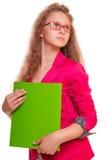 Muchacha adolescente de la colegiala Fotos de archivo