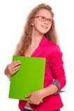 Muchacha adolescente de la colegiala Fotografía de archivo