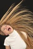 muchacha adolescente de la edad que grita Imagen de archivo libre de regalías