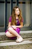 Muchacha adolescente de la manera Fotografía de archivo