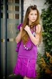 Muchacha adolescente de la manera Imágenes de archivo libres de regalías