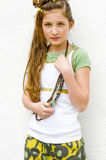 Muchacha adolescente de la manera Foto de archivo