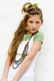 Muchacha adolescente de la manera imagenes de archivo