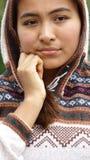 Muchacha adolescente de la minoría preocupante Imagenes de archivo