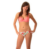 Muchacha adolescente de la playa Foto de archivo libre de regalías