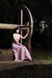 Muchacha adolescente de la soledad Foto de archivo