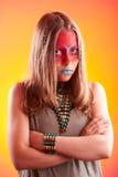 Muchacha adolescente de moda hermosa con maquillaje Imagenes de archivo