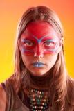 Muchacha adolescente de moda hermosa con maquillaje Fotos de archivo