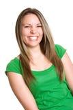 Muchacha adolescente de risa Fotografía de archivo libre de regalías