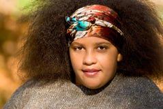 Muchacha adolescente del afroamericano Fotografía de archivo
