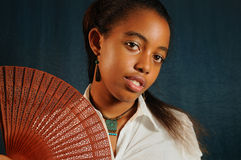 Muchacha adolescente del afroamericano Foto de archivo
