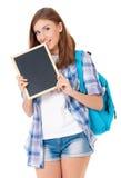 Muchacha adolescente del estudiante Fotografía de archivo