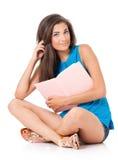 Muchacha adolescente del estudiante Imagen de archivo