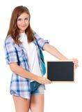 Muchacha adolescente del estudiante Foto de archivo libre de regalías