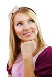 Muchacha adolescente del estudiante de la manera Imágenes de archivo libres de regalías