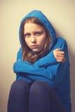 Muchacha adolescente del mendigo Fotografía de archivo