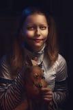 Muchacha adolescente del payaso Fotos de archivo