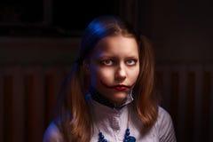 Muchacha adolescente del payaso Imagen de archivo