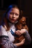 Muchacha adolescente del payaso Foto de archivo