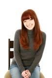 Muchacha adolescente del pelo rojo hermoso Foto de archivo libre de regalías