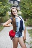 Muchacha adolescente del retrato Fotografía de archivo
