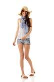 Muchacha adolescente del verano alegre en Panamá Imagen de archivo