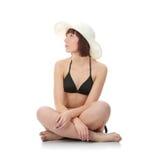 Muchacha adolescente del verano en bikiní Imagenes de archivo