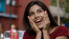 Muchacha adolescente emocionada Fotografía de archivo