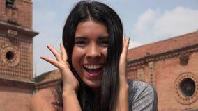 Muchacha adolescente emocionada Fotos de archivo libres de regalías