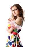 Muchacha adolescente en alineada de partido Fotos de archivo libres de regalías