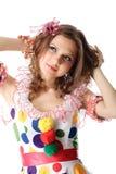 Muchacha adolescente en alineada de partido Fotografía de archivo libre de regalías