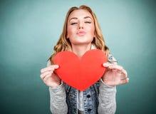 Muchacha adolescente en amor Imagen de archivo